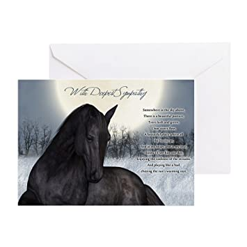 cafepress pet horse sympathy card loss of pet horse greeting card note