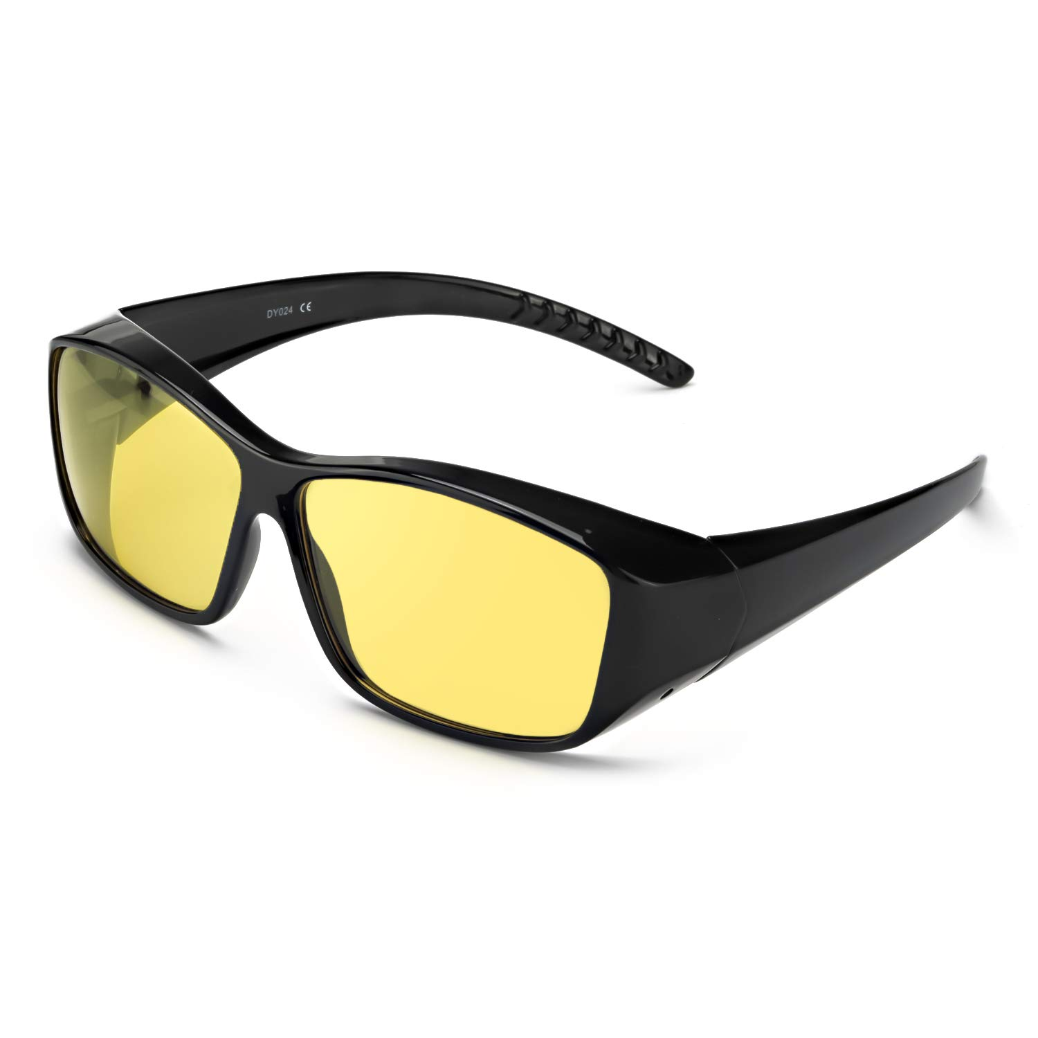 58b48422e6c Amazon.com  LVIOE Wrap Around Night Vision Glasses
