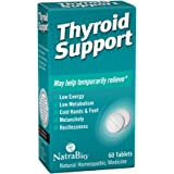 NatraBio Thyroid Support Homeopathic Tablets | May Temporarily Help Relieve Low Energy & Metabolism, Melancholy & Restlessnes