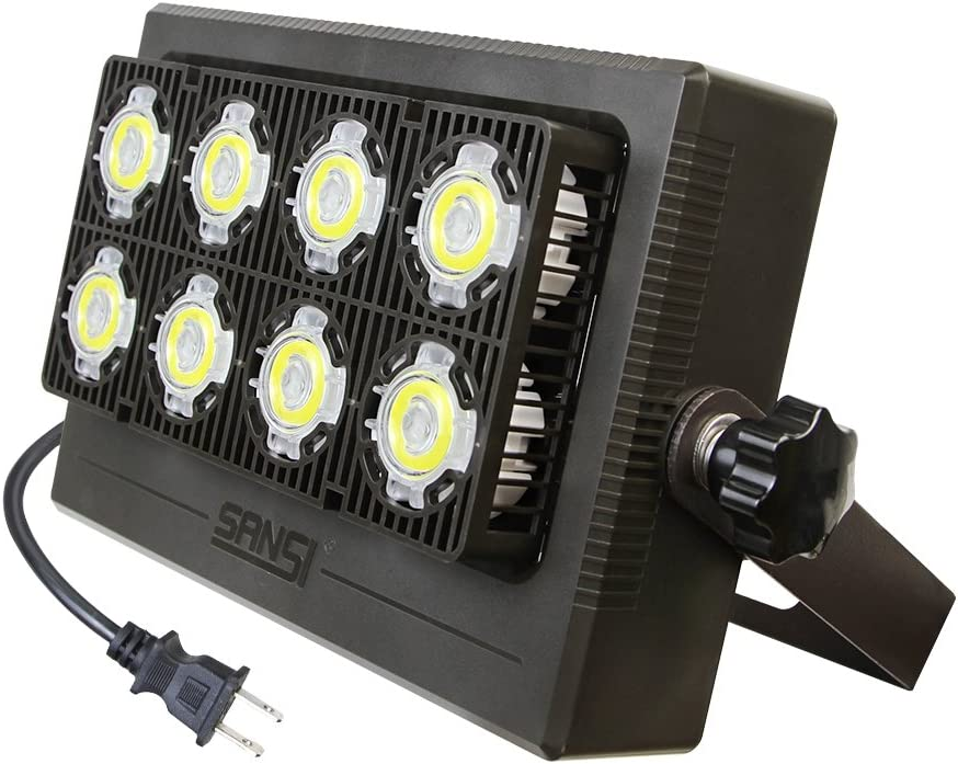 SANSI 50W Foco LED Exterior, Foco Led Exterior, Proyector Foco 4000lm Led Blanco Frio 5700K Floodlight Brillo Alto IP66 Impermeable para Fiesta Jardín Patio, Garaje, Fábrica