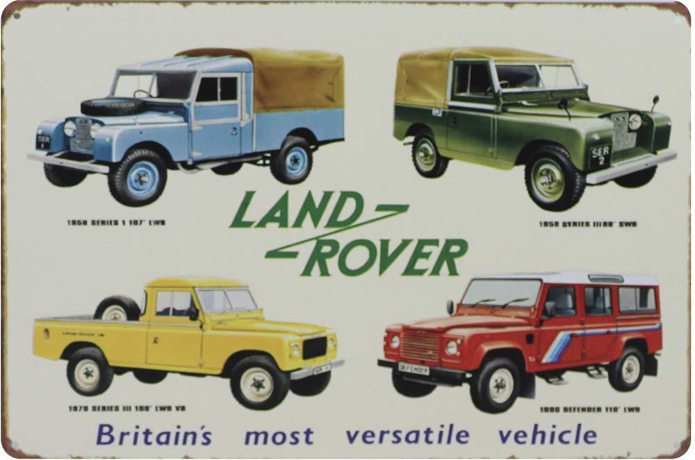 Mulica Land Rover Targa in Metallo Vintage Ferro Battuto Decorazione Scudo Avvertimento Cartello Placca per Bar Cafe Office Film Compleanno Nozze