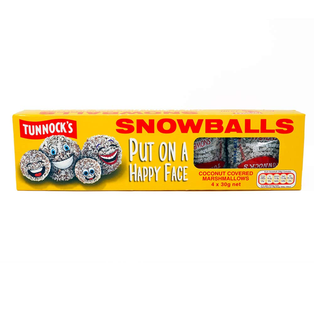 TUNNOCK'S Snowballs - Coconut Covered Marshmallows 4 Pack 120g (4.2 oz) Tunnock's PM1400