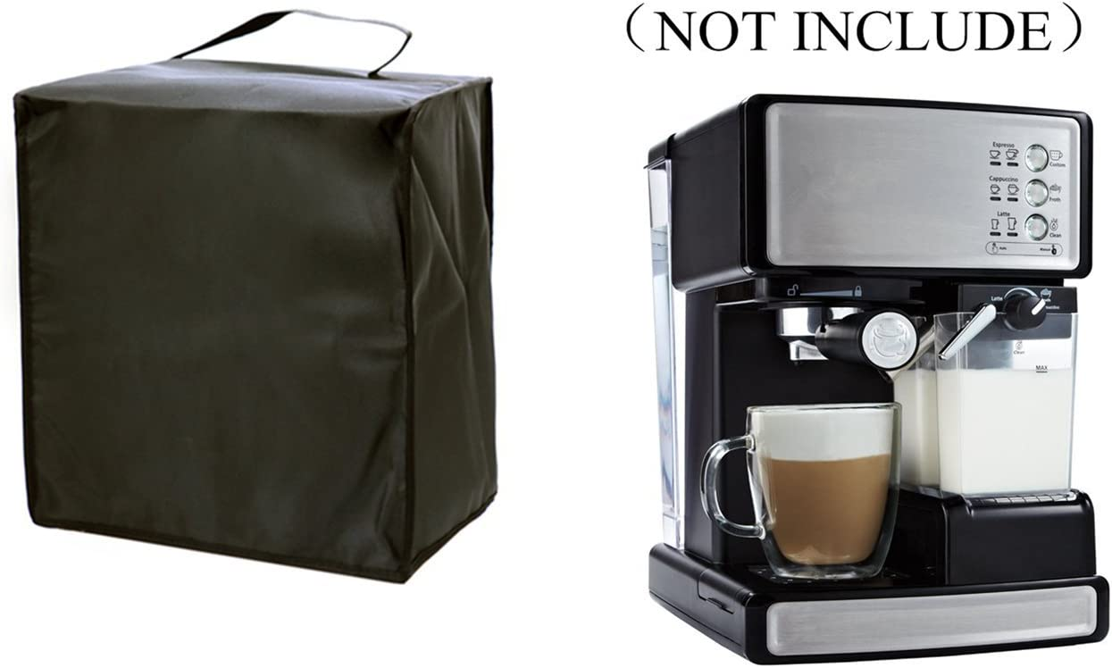 Orchidtent Coffee Maker dust Cover 13W x 14D x 13H-Waterproof, Universal Fit- Fits ECMP1000 Coffee Maker Espresso Cappuccino For ECMP1000