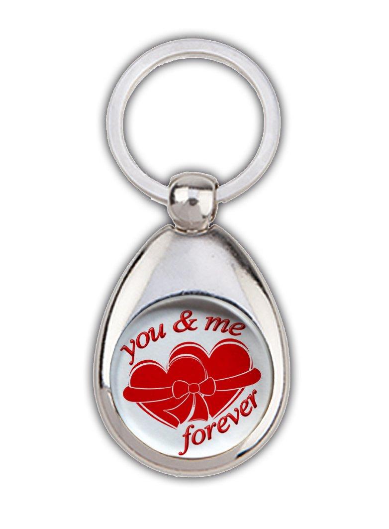 """Schlüsselanhänger /""""You /& me forever /""""  mit Einkaufswagen-Chip"""