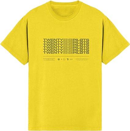 Twenty One Pilots - Camiseta - para Hombre Amarillo Amarillo X-Large: Amazon.es: Ropa y accesorios