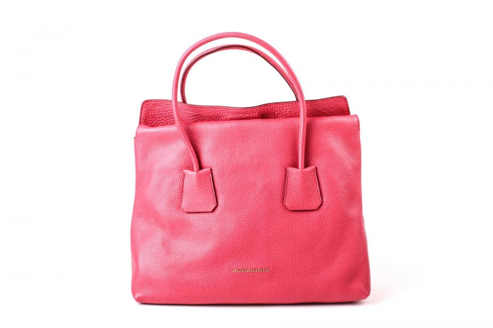 Burberry Women's Grainy Leather Medium Baynard Pink Tote Handbag
