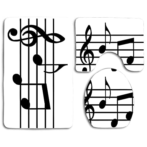 Bath Mat Sets Music Note