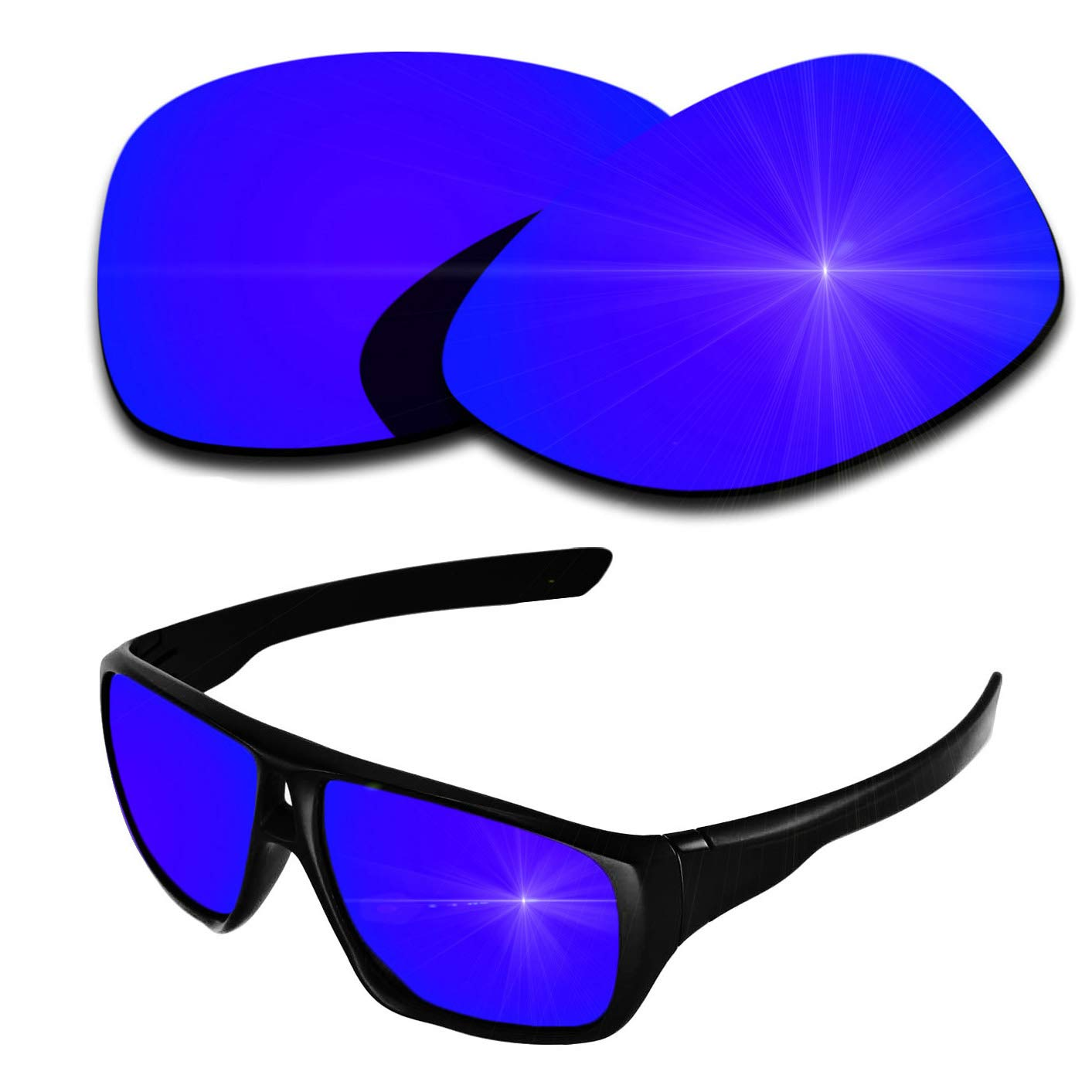 Polarized Replacement Lenses for Oakley Dispatch 2 - Purple Violet Mirrored Coating by PazzerBy