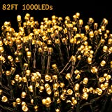 Novtech LED String Lights 82FT 1000 LEDs Christmas Lights Indoor Outdoor Decorative Fairy Lights Decoration for Christmas Home Bedroom Garden Patio Wedding Party Holiday Warm White