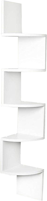 2//5 Tier Floating Wall Shelves Corner Shelf Storage Wood Display Bookcase Decor