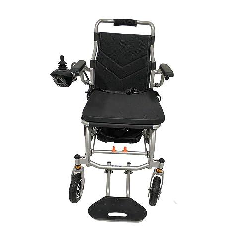 LEWWB Silla de ruedas eléctrica de aluminio plegable Puede subir al avion Ultraligero 18kg