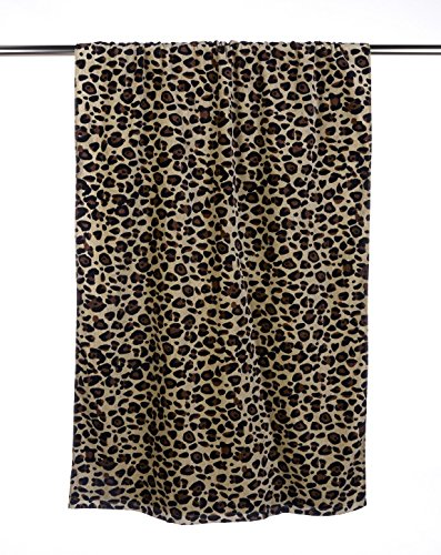 UltraClub Beach Towel C3060 Velour Leopard Print One Size
