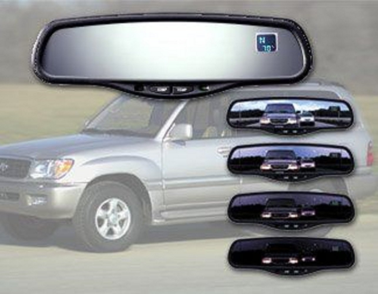 Audi Gentex GENK45A-VPK Auto-Dimming Rear View Mirror system with Compass and Homelink for Volkswagen
