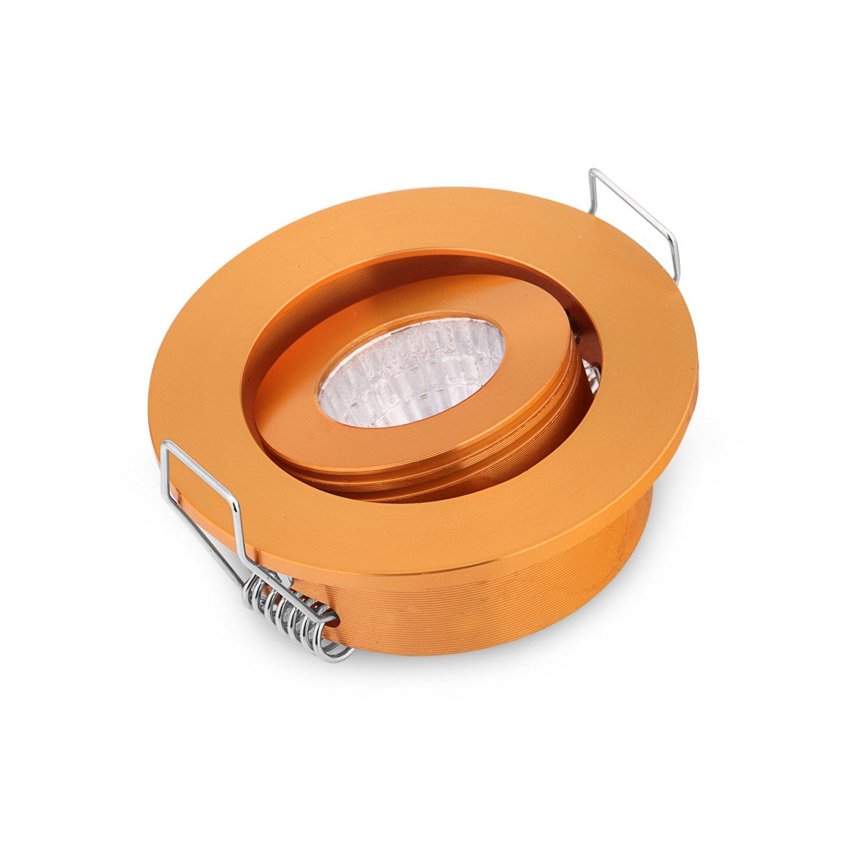 Pack of 10 3W COB LED Lights Mini Adjustable Recessed Spotlights 3000K DC12V Lighting lamp