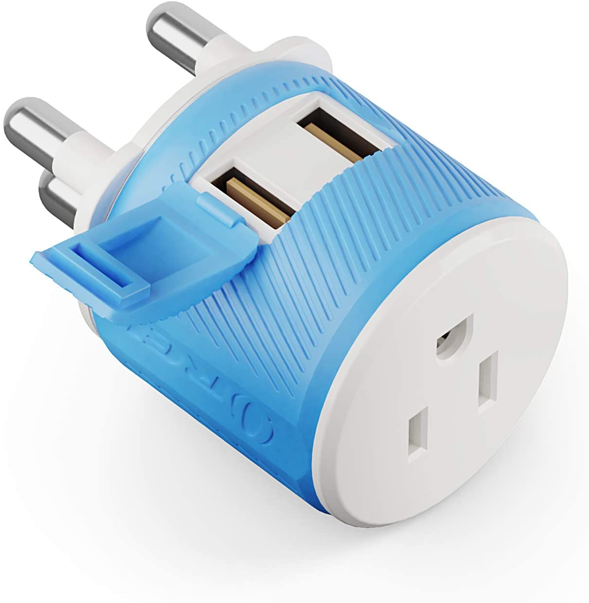 Orei South Africa, Botswana, Namibia Travel Plug Adapter with Dual USB - USA Input + Surge Protection - Type M (U2U-10L), Will work with Cell Phones, Camera, Laptop, Tablets, iPad, iPhone