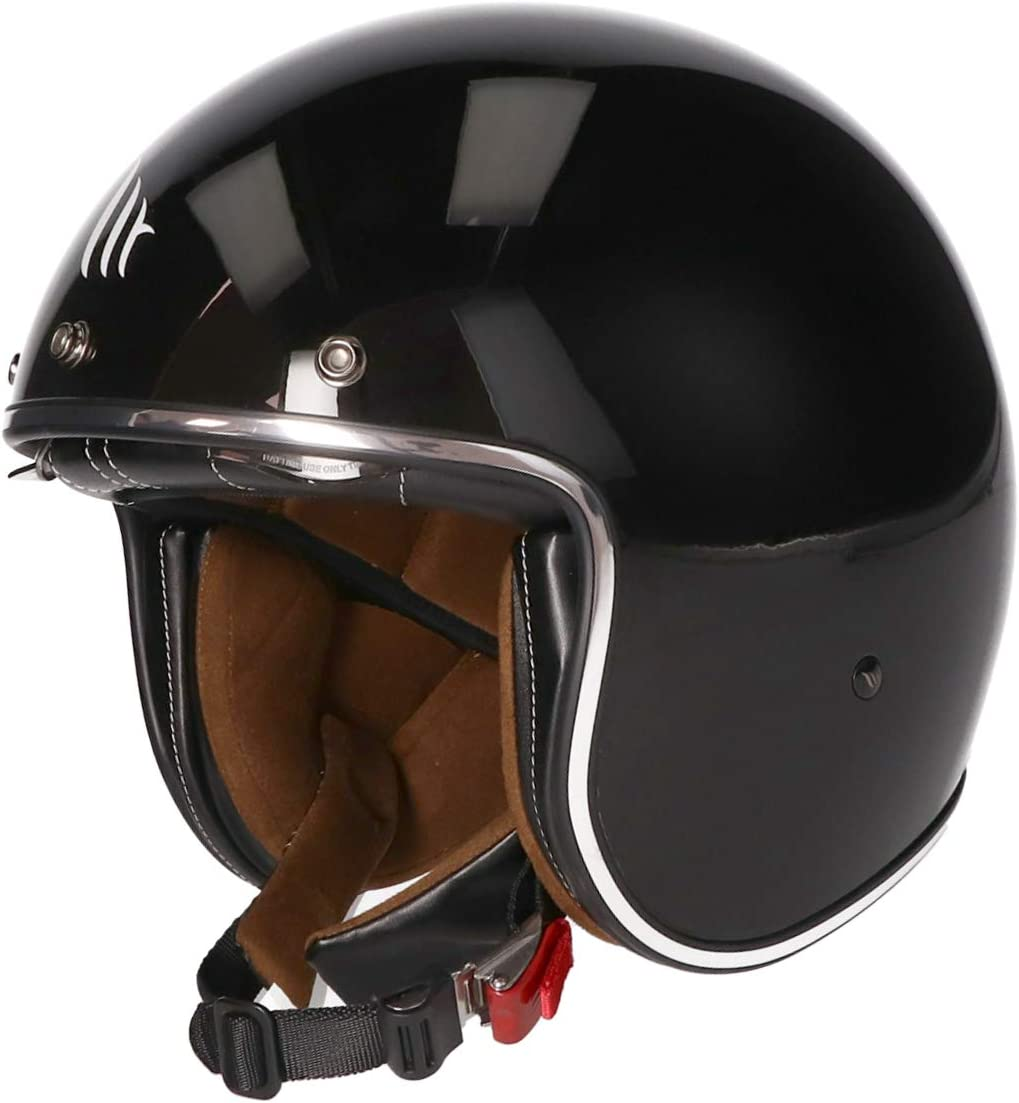 MT Le Mans II /· Jet-Helm /· Motorrad-Helm Roller-Helm Scooter-Helm Bobber Mofa-Helm Chopper Retro Cruiser Vintage Pilot Biker Matt Schwarz, S
