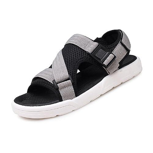Deportes Sandalias Al Aire Libre Agua Playa Respirable Zapatos Verano Piscina Malla Casual Zapatillas para Hombre Negro Gris 39-45: Amazon.es: Zapatos y ...