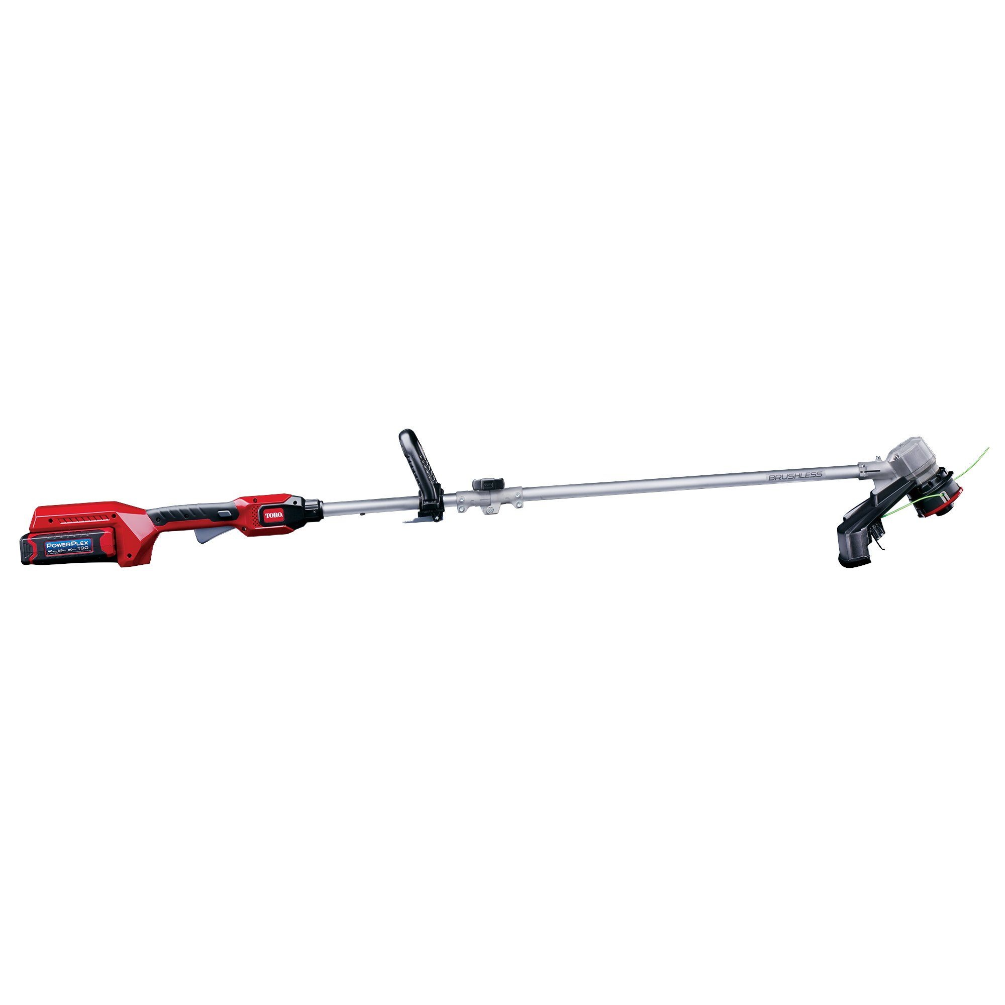Toro PowerPlex 51482 Brushless 40V Lithium Ion 14'' Cordless String Trimmer, 2.5 Ah Battery & Charger Included
