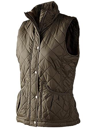 c1b4ef32972 Seeland Cottage Quilt Lady waistcoat Black olive: Amazon.co.uk ...