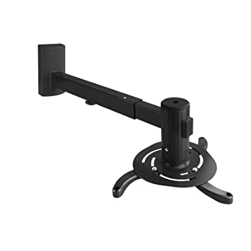 TooQ PJ4015WTN-B - Soporte inclinable y giratorio de pared para proyector, hasta 10 Kg, ajustable a la pared entre 480mm hasta 660mm, inclinacion +/- ...