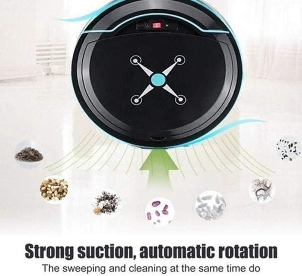 LLDKA Aspirateur Robot, Aspiration Forte, pour sols, Parfait pour Les Cheveux des Animaux domestiques Tapis et Sol,Blanc White