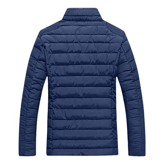 Longra ☂☂❤ ❤ Parka para Hombre Chaqueta Hombre, Color sólido Stand Collar Zipper Casual Coat: Amazon.es: Ropa y accesorios
