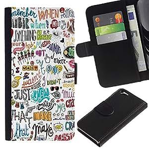 All Phone Most Case / Oferta Especial Cáscara Funda de cuero Monedero Cubierta de proteccion Caso / Wallet Case for Apple Iphone 6 // Happy Positive Motivational Hand