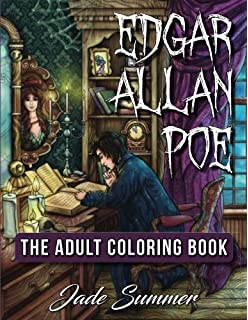 Edgar Allan Poe An Adult Coloring Book With Literary Horror Scenes Victorian Fashion Designs