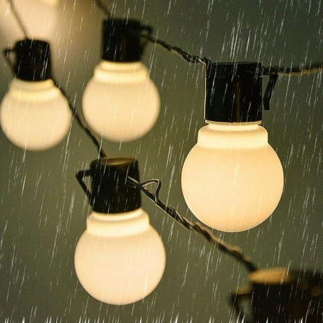Luces de Cadena LED para jardín al Aire Libre Patio Interior a Prueba de Agua Lámpara de Hadas Exterior para terraza Patio Navidad Dormitorio de niñas, Fiesta, Boda, Árbol de Navidad, Cumpleaños: