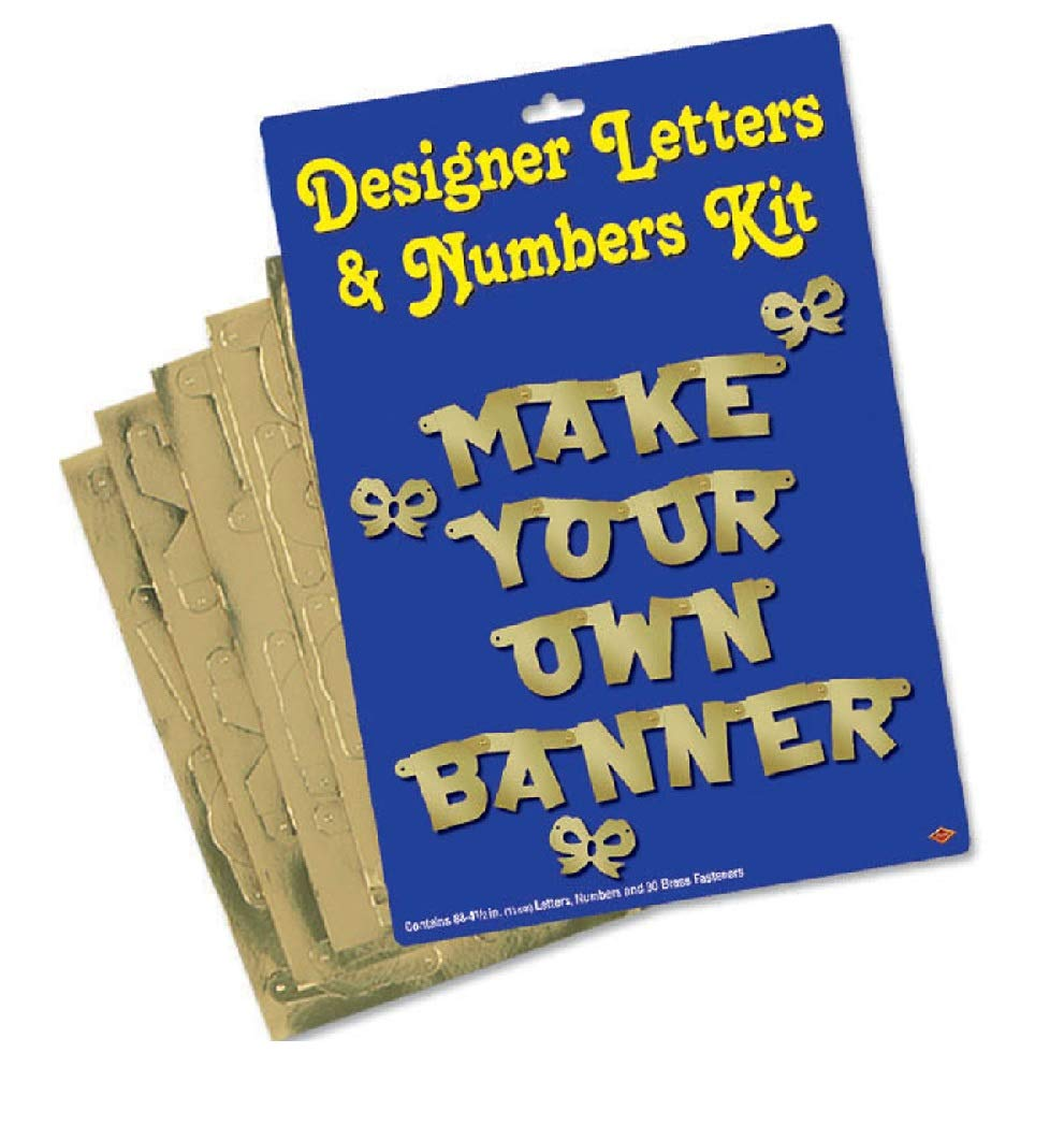 Party Central 4'' Gold Make Your Own Banner Kit Pack of 6