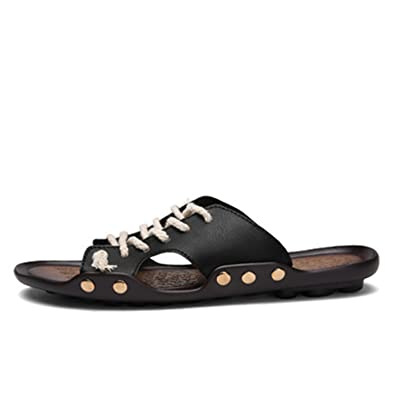 Willie Marlow Mens Slippers Casual Summer Shoes Outdoor Fashion Beach Sandals Flip Flops Black 6.5