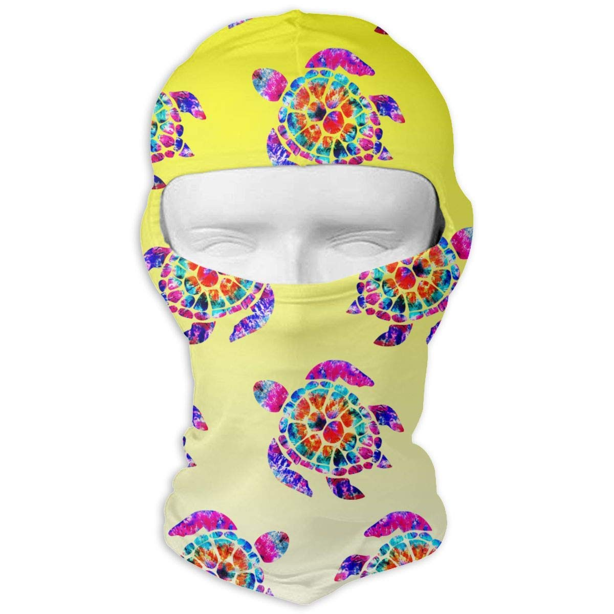 Vidmkeo Colorful Tie Dye Turtle Balaclava Face Mask Hood for Skiing Camping Running Cycling Neck Warm