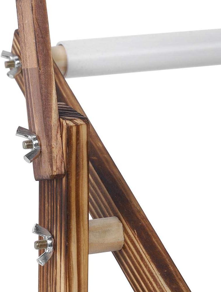 Soporte de Bordado Accesorio de Costura de Marco de Puntada de Altura Ajustable 18.5 x 8.3 en Bastidor de Bordado de Madera Antigua