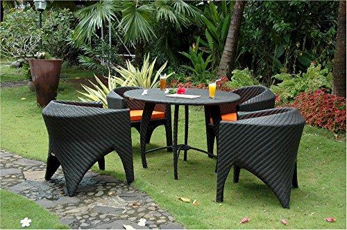 Anderson Teak Montebello Dining Outdoor Furniture Set, Dark (Anderson Teak Furniture)