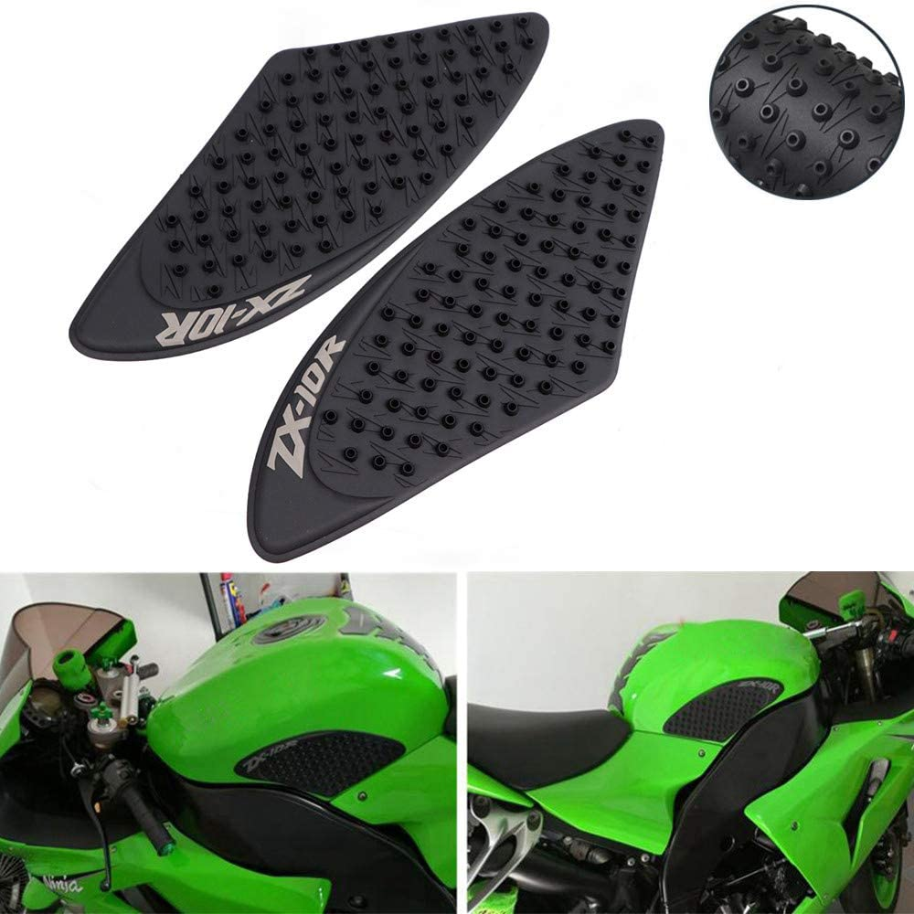 COPART Motorcycle Gas Tank Traction Pads Fuel Tank Grips Side Stickers Knee Grips Protectors Decal for Kawasaki Ninja ZX10R 2006 2007
