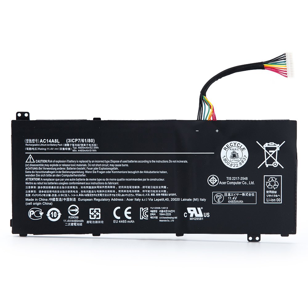 Bateria Ac14a8l 11.4v 52.5wh V15 Nitro Aspire Vn7-571 Vn7-591 Vn7-571g Vn7-791g Vn7-791 Series