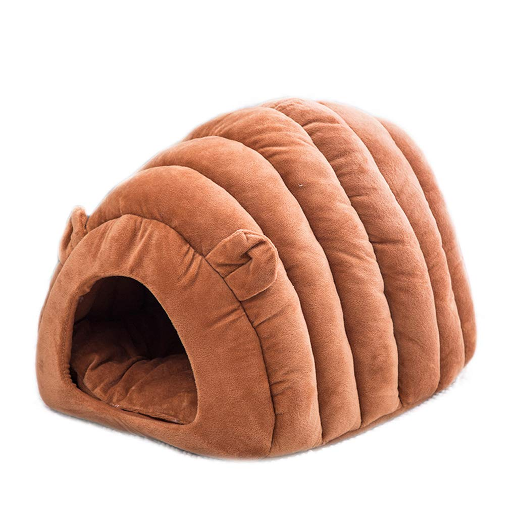 BROWN Cat Worm Cat House Four Seasons Universal Cat Nest Closed Cat Sleeping Bag (color   BROWN)