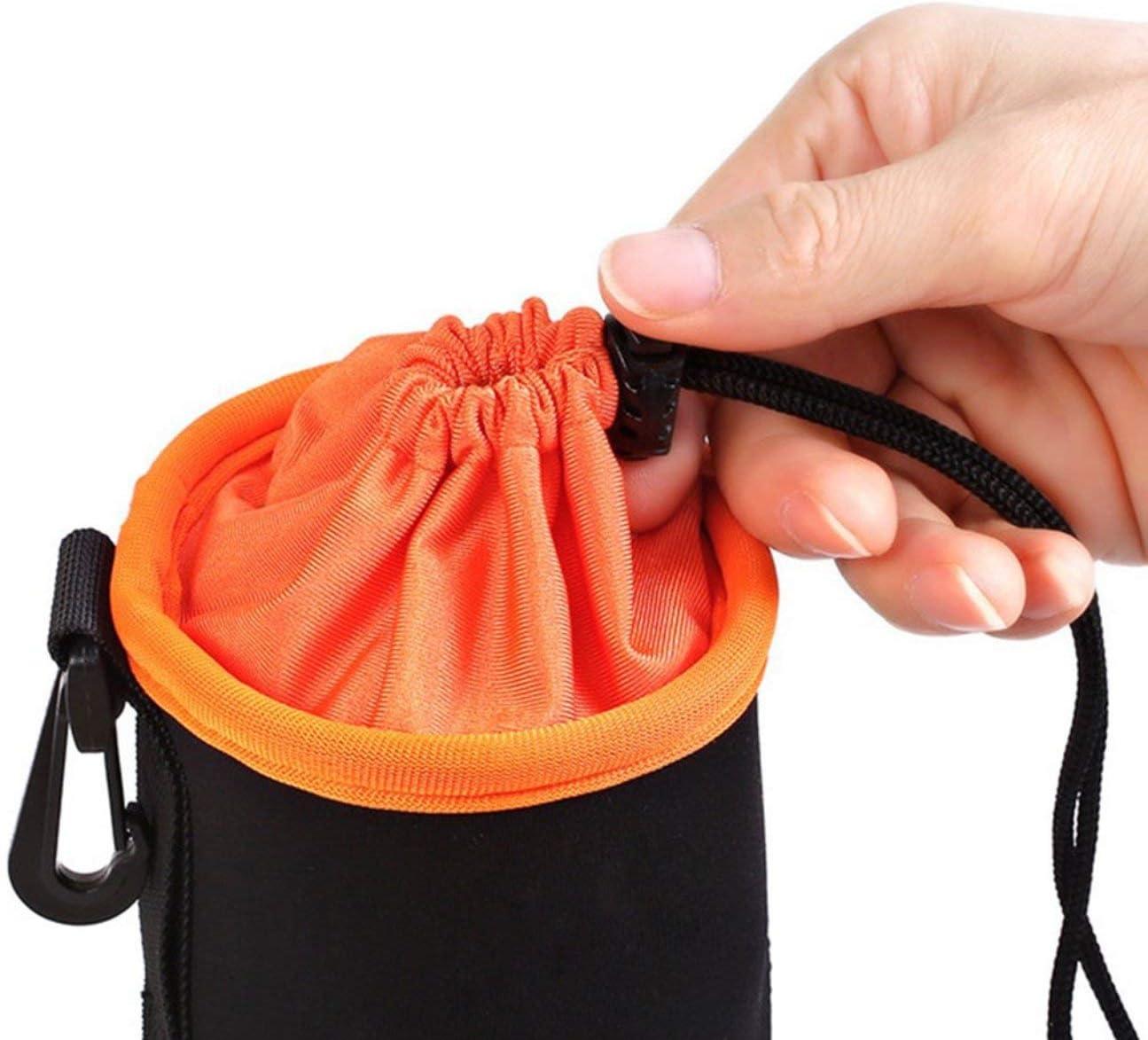 HIPENGYANBAIHU Neoprene Pouch DSLR Camera Lens Protective Bag Thicken Waterproof Soft Case Bag Drawstring Locking Camera Lens Bag Case