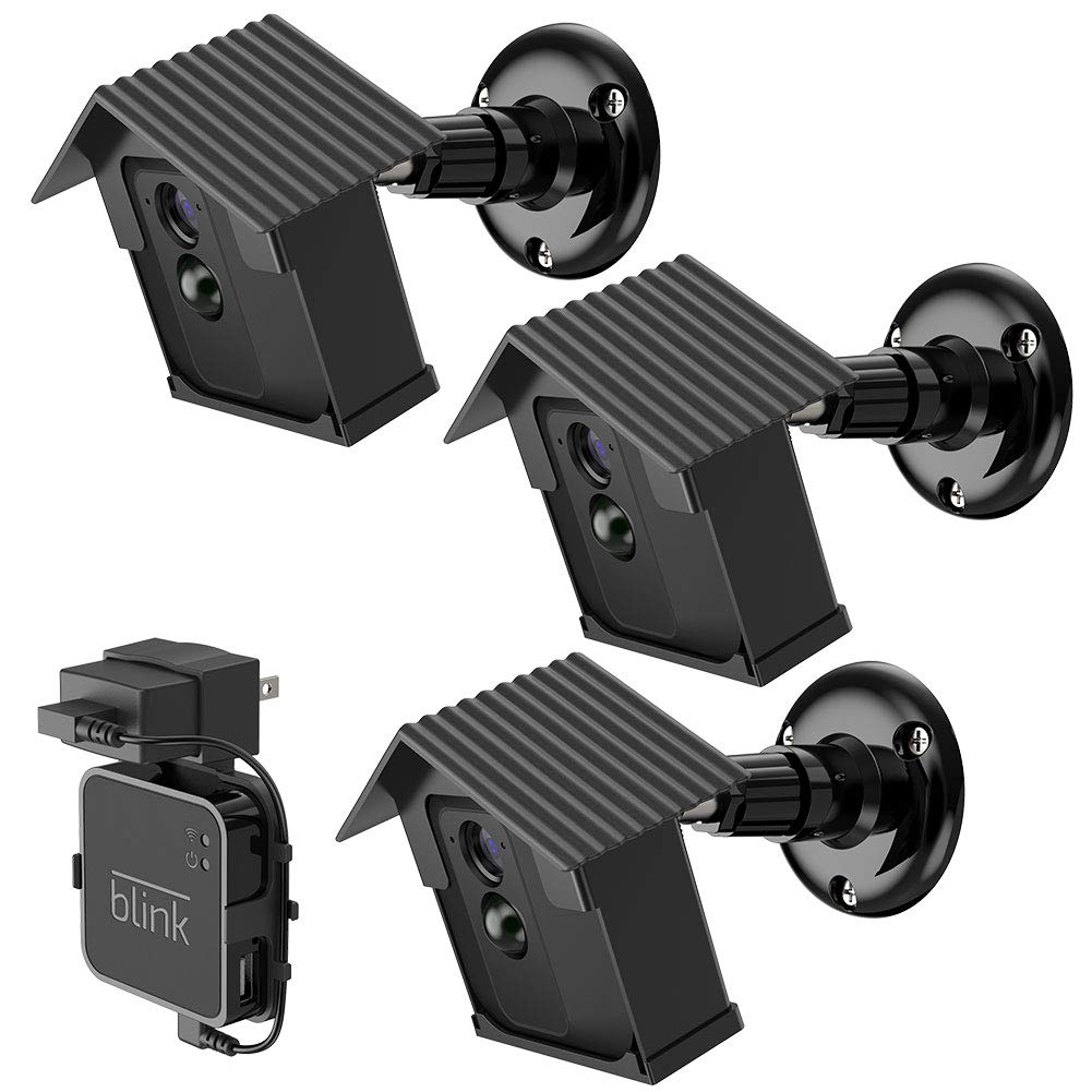Wall Mount Bracket for Blink XT2,HOLACA Protective Weatherproof Housing Mount for Blink XT2/XT Outdoor Cameras Security System (3 Pack)