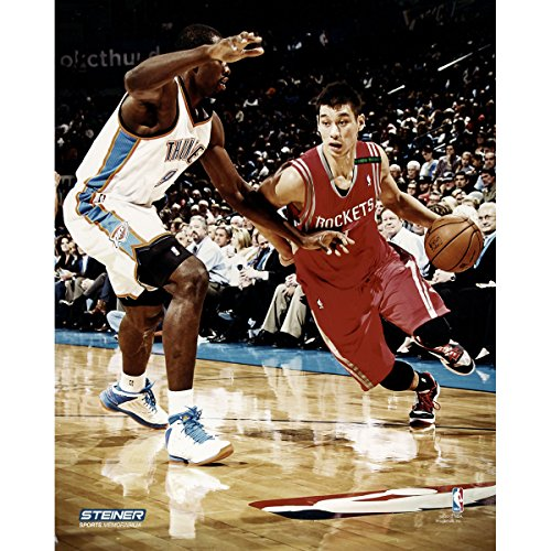 Jeremy Lin Drive to Basket vs Thunder 16x20 Uns (Getty 157146863) (Christmas Baskets Houston)