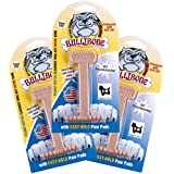 Bullibone Nylon Dog Chew Toy Small Nylon Bone - Improves Dental Hygiene, Easy to Grip Bottom, and Permeated with Flavor (3-Pack, PB)