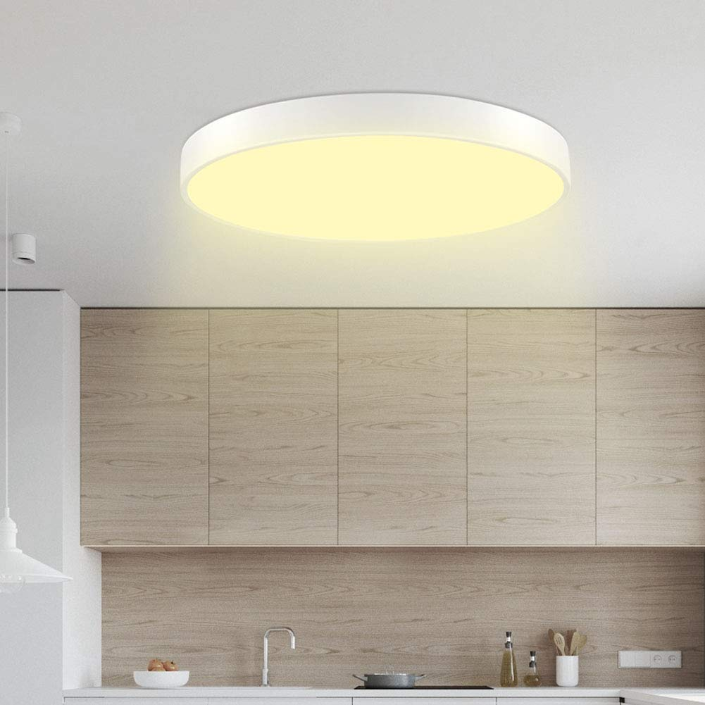 28W Ceiling Light Sararoom Round LED Panel Ceiling Lamp Surface Mounted 2800-3200K Warm Light for Living Room, Kitchen, Hallway, Bathroom, Bedroom and Office 40x5cm (28W Warm Color)