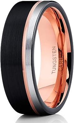 Black Tungsten Wedding Band,Hammered Tungsten Ring,Tungsten Wedding Ring,Tungsten Carbide Ring,Anniversary Ring,Engagement Ring,Brush Ring