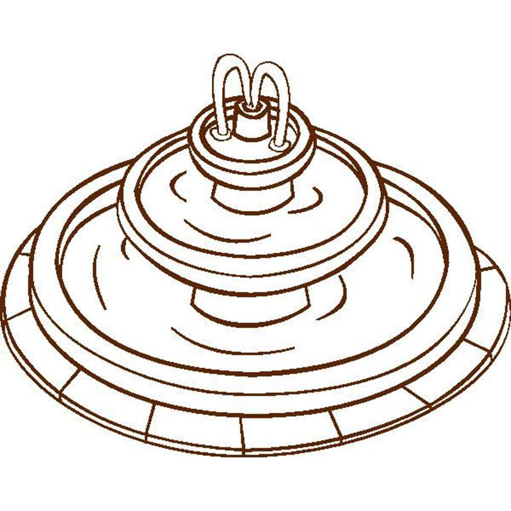 Korrosionsschutz und Winterisolationsschutz Ecisi wasserdichte Veranda Outdoor Springbrunnenabdeckung mit verstellbarem Saum einfache Montage und Demontage f/ür Statuen und Springbrunnen