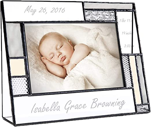 Personalised New Born Baby Girl Boy Picture Photo Frame Keepsake Gift 6x4 Size