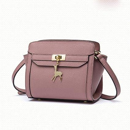 Sdcvopl Womens Handbag Womens Bag Wild Shoulder Messenger Bag Korean Version of The Deer Simple Wings
