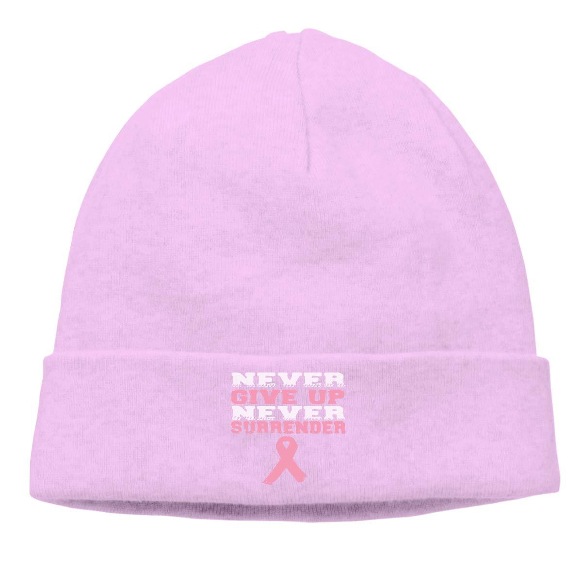 BBlooobow Men Women Breast Cancer Awareness Soft Knit Caps