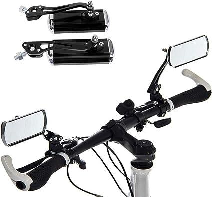 Gasea Espejo Retrovisor de Bicicleta de Montaña, Espejo de Aleación de Aluminio, Ajustable Espejos Retrovisores de Seguridad Flexibles Accesorios para Bicicletas: Amazon.es: Deportes y aire libre