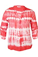 Calvin Klein Women's Tie-Dyed Faux-Pocket Button-Down Shirt