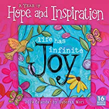 2019 A Year of Hope and Inspiration 16-Month Wall Calendar: by Sellers Publishing, 12x12 (CA-0417)